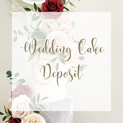 Wedding Cake Booking Fee