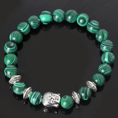 Anchor Beaded Buddha Bracelets For Men Women Buddha Lava Chakra Bracelet