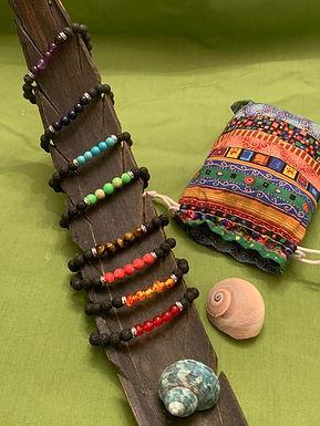 7 Chakra Individual  Bracelets  Essential Oil Diffuser Natural Stone