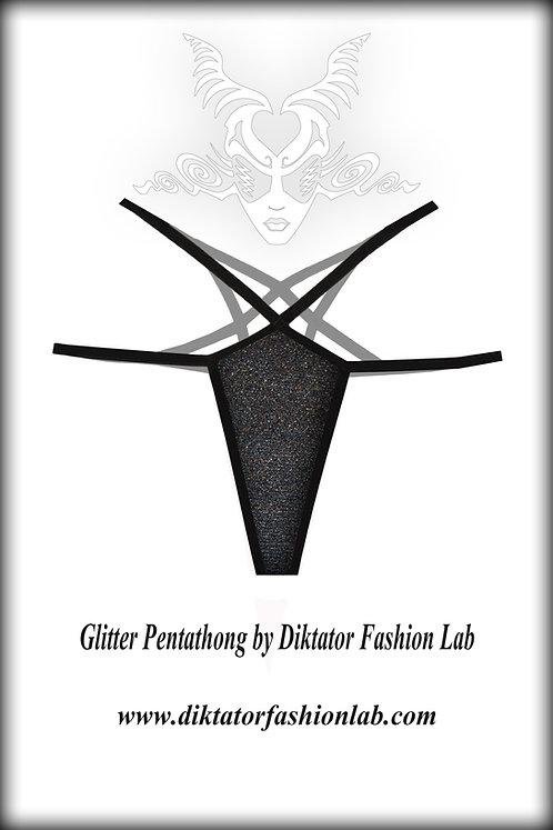 Glitter Pentagram Thong, Festive Holiday Pentathong