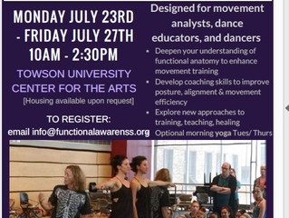 Functional Awareness: Anatomy in Action -- 2018 Summer Study