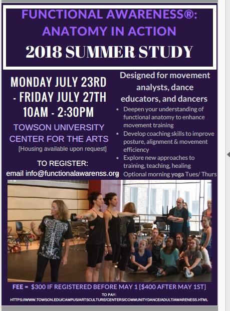Functional Awareness Summer Study 2018 Flyer