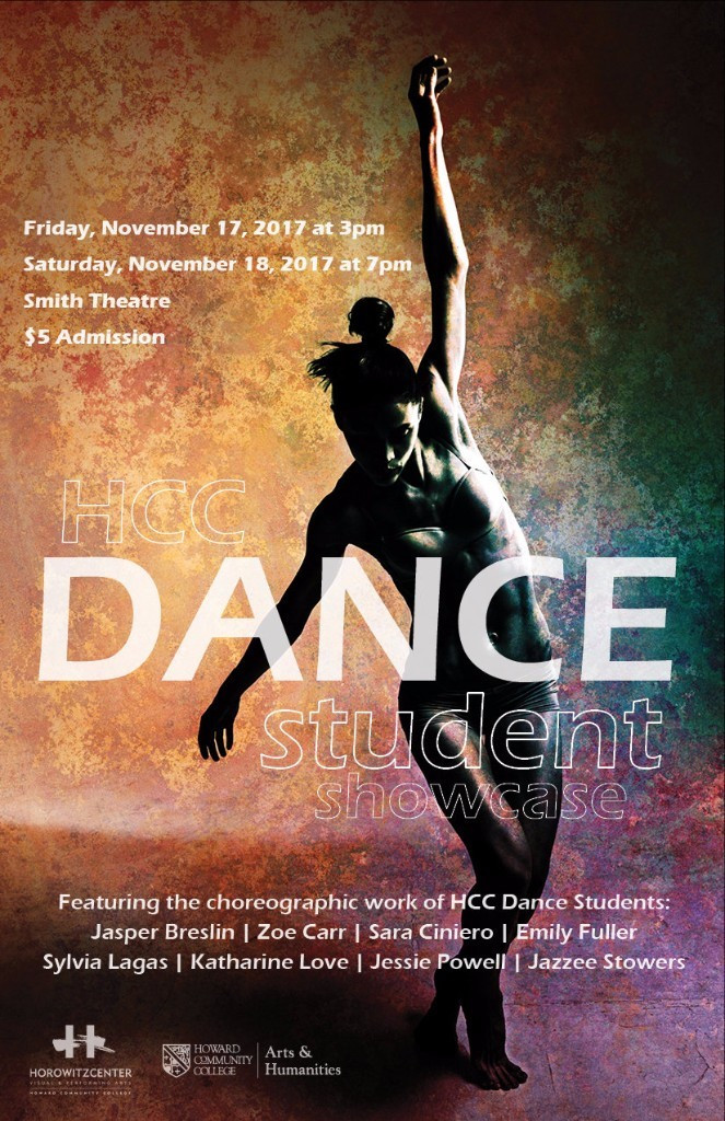 Poster for the HCC Dance Student Showcase