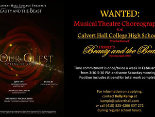 WANTED: Musical Theatre Choreographer in Towson, MD (Calvert Hall)