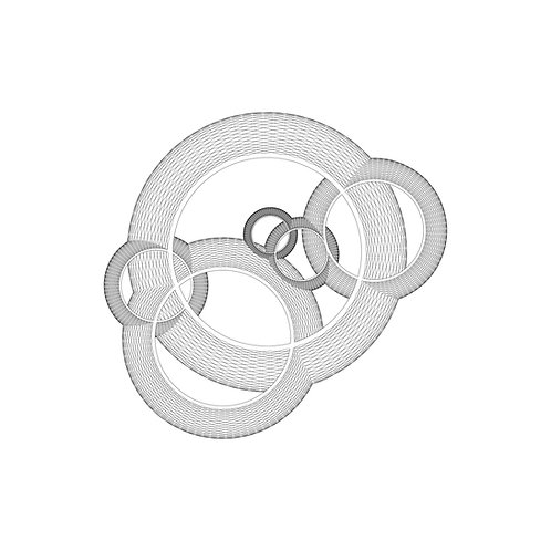 Wide Ring Intersection Print