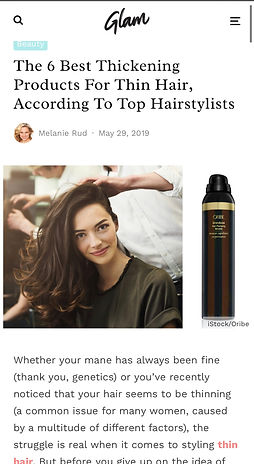 6 Best Thickening products for thin hair according to top Hairstylists