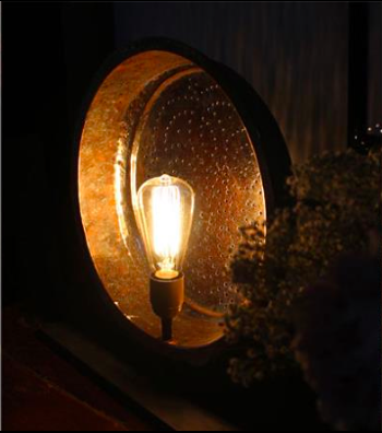 copper plate light