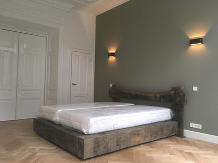 Customized bed for residential project