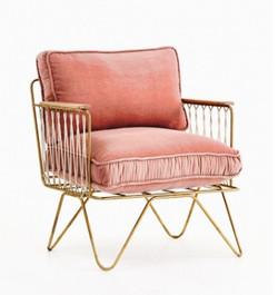armchair velvet cushion