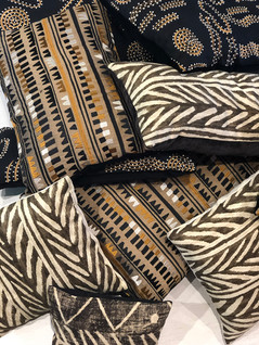 Customized pillows in a variety of sizes. We can also make outdoor pillows