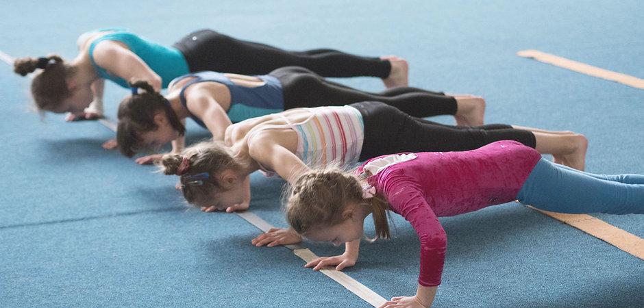 Girls Doing Push-Ups