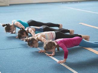 Twisters Recreational Gymnastics Program: Girls Doing Push-Ups