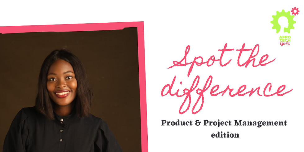 Spot the difference - Product & Project management edition