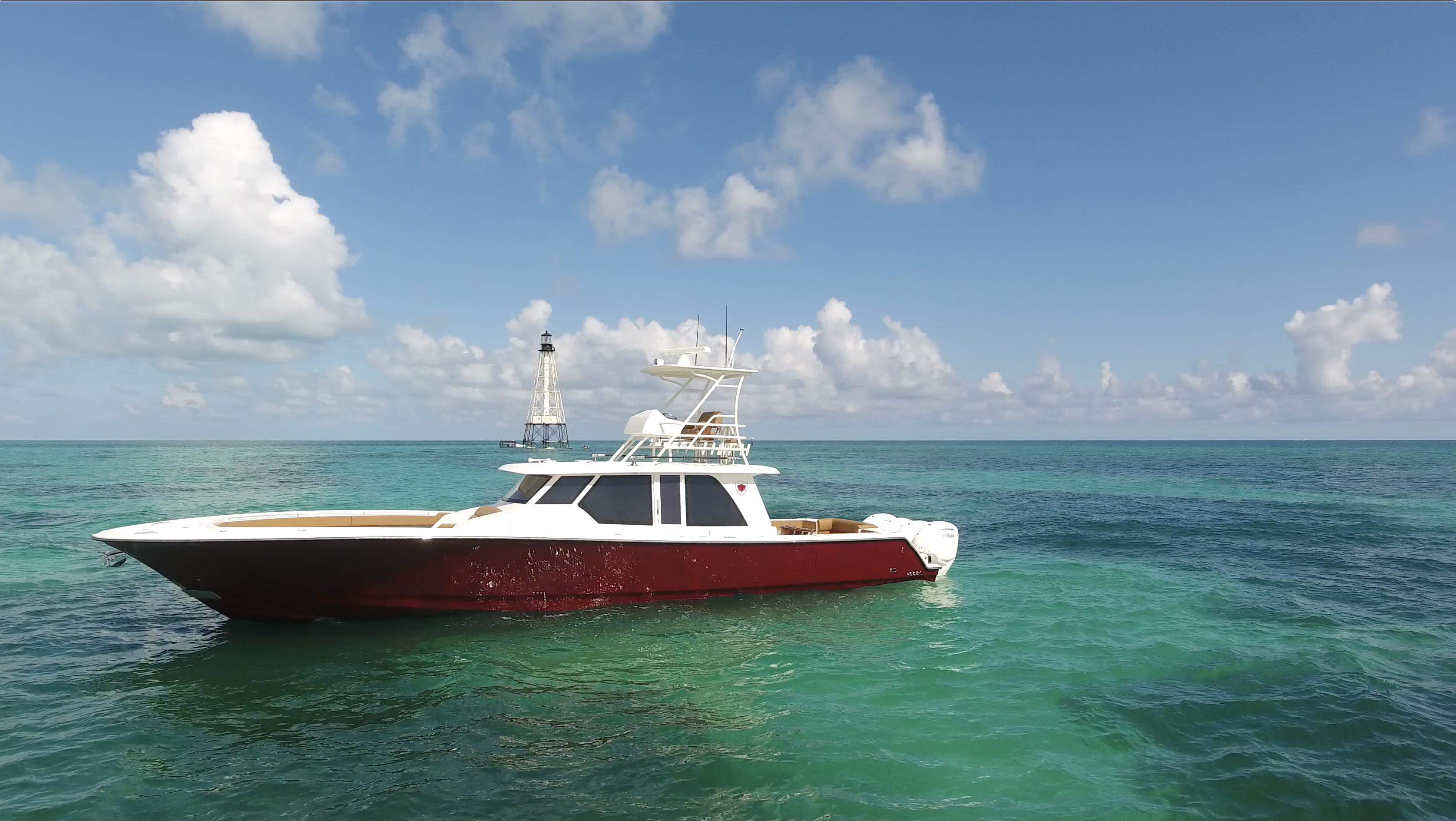 gulfstream yachts 52 metallic red in key