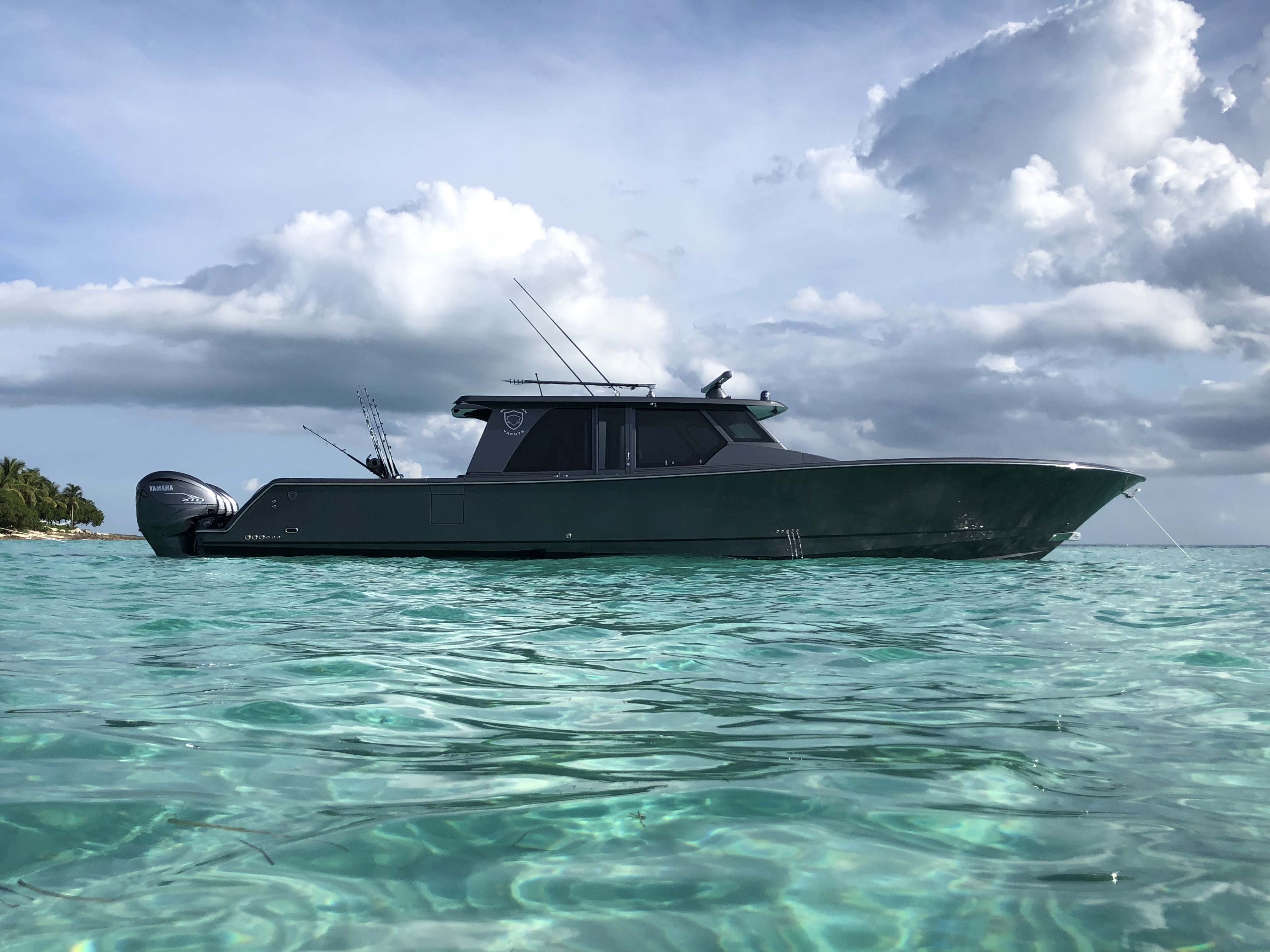 gulfstream yachts 52 gray bahamas yamaha