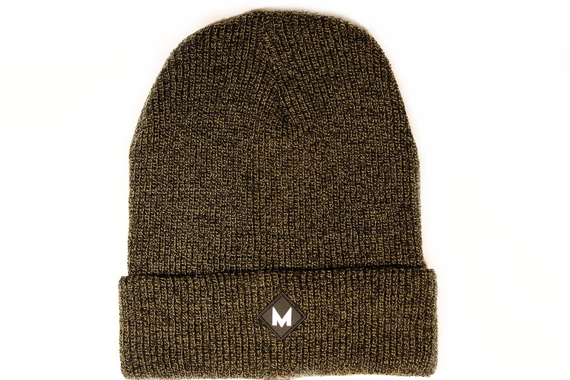 Antique Green Double Layer Beanie