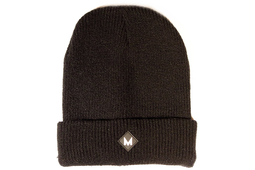 Black Double Layer Beanie