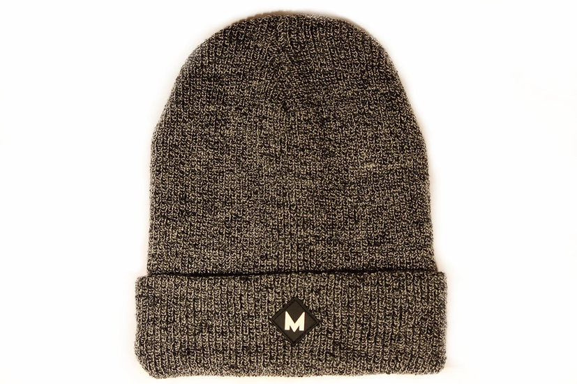 Heather Grey Vintage Double Layer Beanie