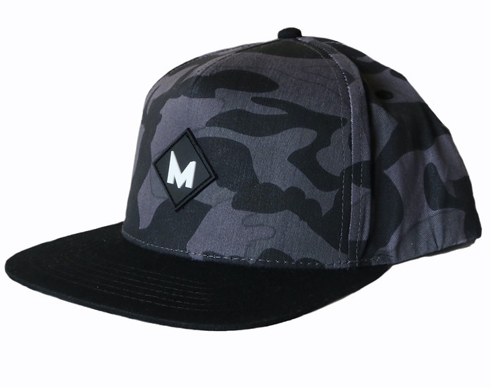 Midnight Camo snapback cap