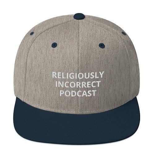Religiously Incorrect Podcast Snapback Heather Grey/Navy