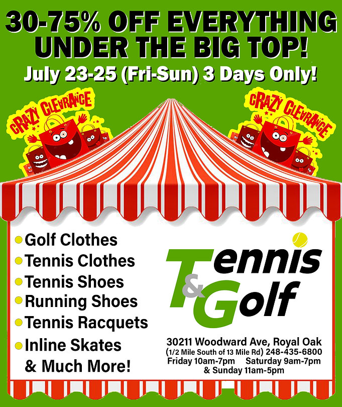Best tennis and golf store in Detroit | The Tennis and Golf Company in Royal Oak