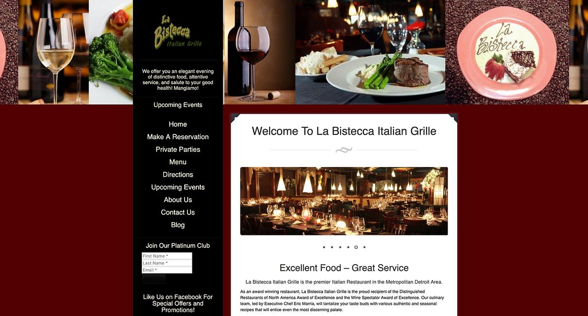 Detroit's best Italian restaurants | La Bistecca Italian Grille in Plymouth Michigan