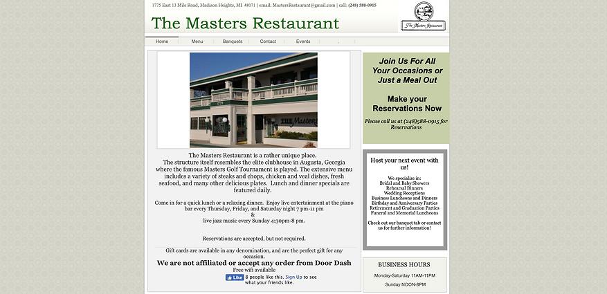 Best of Detroit restaurants | The Masters Restaurant