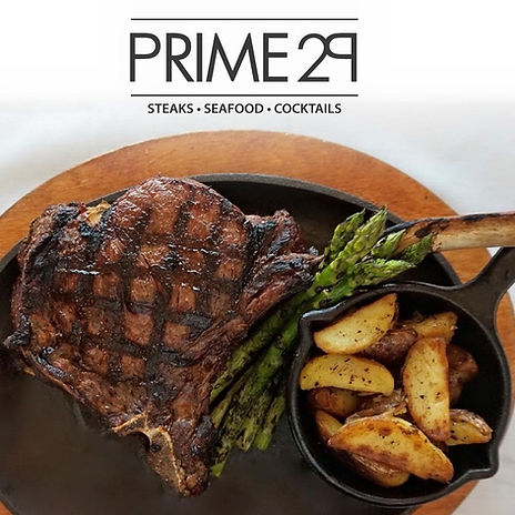 Detroit's best Tomahawk steak at Prime 29 Steakhouse.  Featured in Detroit's best dining directory.