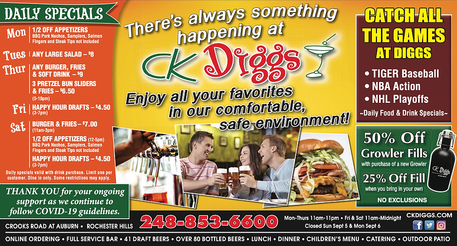 CK Diggs | Rochester and Rochester Hills best restaurants and bars