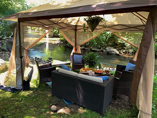 Creekside Cabana Rentals | The Royal Park Hotel and Park 600 in Rochester, Michigan | Best of Detroit Outdoor Activities