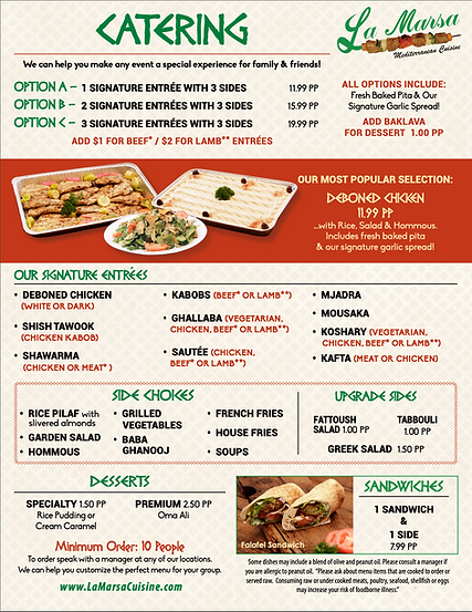 Best of Detroit Catering | La Marsa Meditteranean Cusine