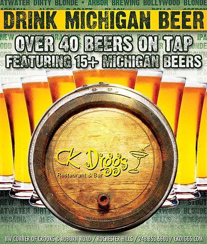 Best beer selection in Rochester, Michigan | CK Diggs