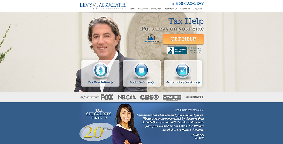 Best tax consultants in Detroit | Levy and Associates Tax Resolution