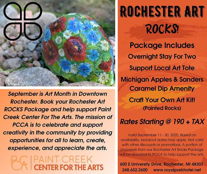 Rochester Art Rocks Package at The Royal Park Hotel | Detroit's best hotels