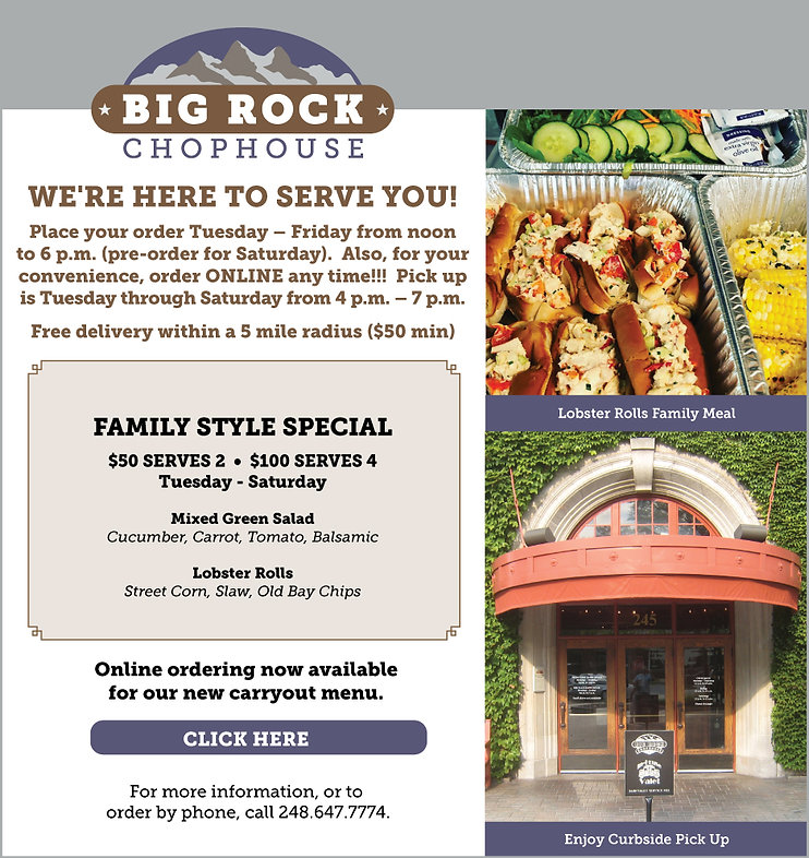 Best restaurants in Birmingham, Michigan | Big Rock Chophouse