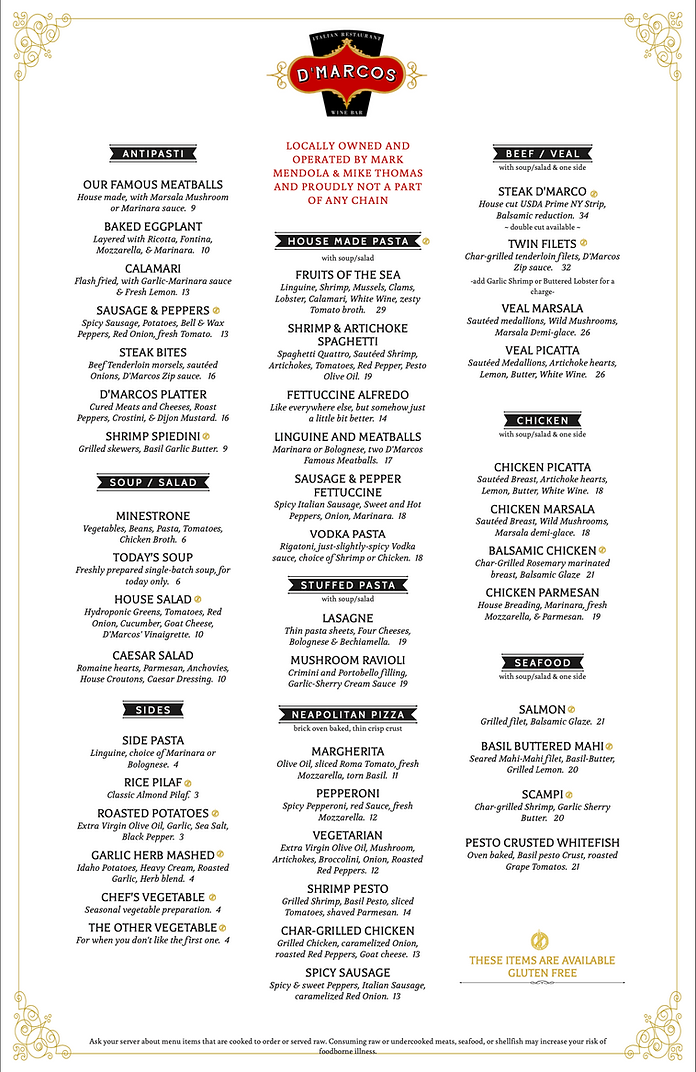 D'Marcos Italian Restaurant | Rochester, Michigan's Best Italian Restaurants