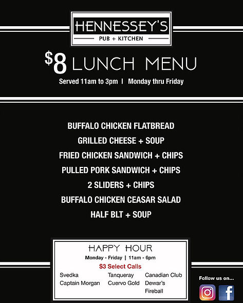 Hennessey's Pub and Kitchen Lunch Specials | Best Detroit Lunch Specials