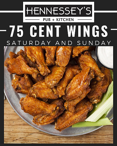 Hennessey's Pub + Kitchen Daily Specials | Best wings Detroit