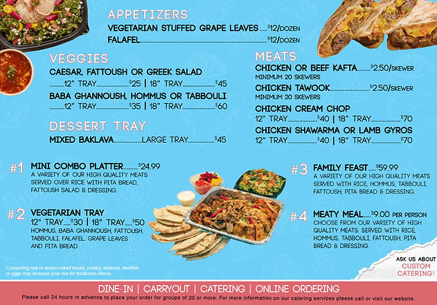 Pita Way | Best of Detroit Catering Menu