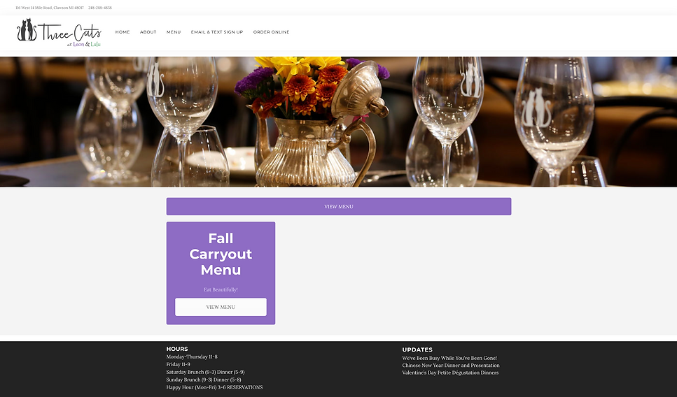 Three Cats Restaurant and Bar Website   Best restaurants in Clawson and Royal Oak