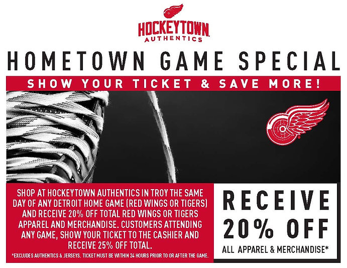 Best Detroit sports apparel and merchandise | Hockeytown Authentics