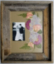 wedding photo with pressed flowers
