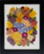 11x14 cream background black satin frame