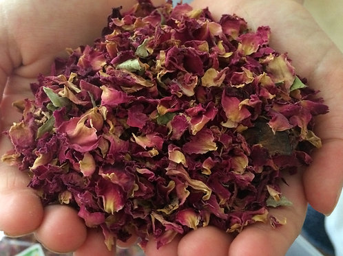 Small dried red rose petals - biodegradeable