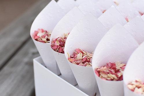 Natural Confetti Box 24 cones with confetti