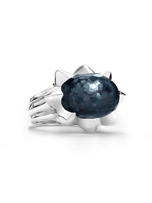 Kira Ring in Crystal Hematite