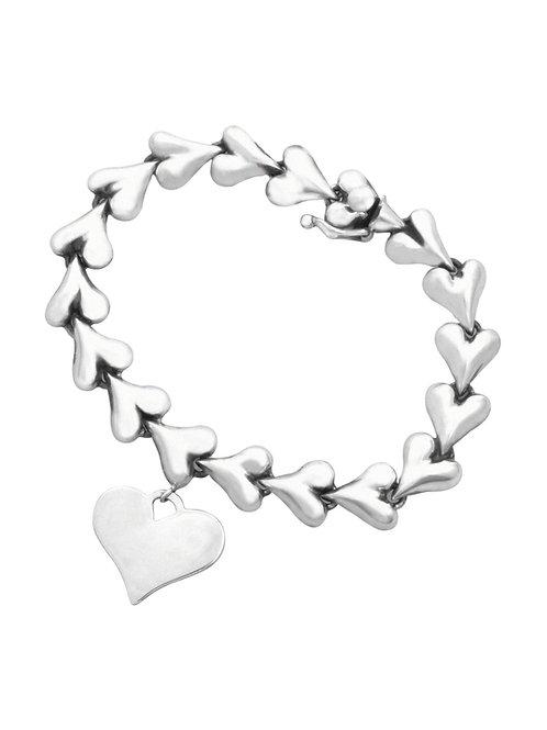 Liquid Heart Charm Bracelet