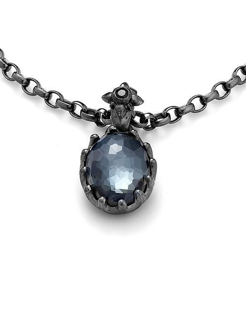 Bailey Crystal Hematite Necklace