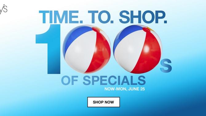 Macy's предлагает огромный раздел товаров по супер ценам!