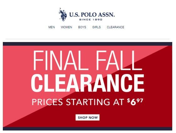 Clearance на U.S.POLO ASSN! Таких цен в магазинах РФ точно не увидишь!